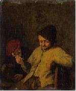 Adriaen van ostade The Smoker and the Drunkard. oil